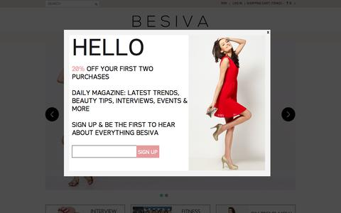Screenshot of Home Page besiva.com - Besiva- Clothes Shopping Online   Buy Ladies Fashion Dresses - captured Sept. 30, 2014