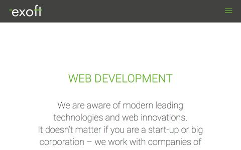 Screenshot of Services Page exoft.net - Web Development – Software Development Company - captured May 24, 2017