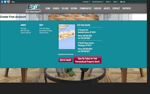 Screenshot of Signup Page Login Page exitlinksrealty.com - Signup - captured Jan. 30, 2016