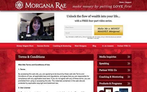 Screenshot of Terms Page morganarae.com - Terms & Conditions - captured Nov. 2, 2014