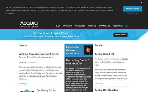 Screenshot of Developers Page acquia.com - Acquia Developer Center - captured May 27, 2018
