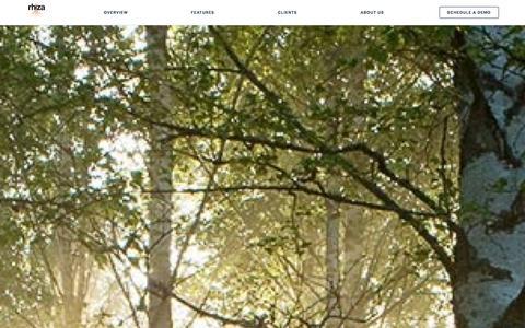Screenshot of Home Page rhiza.com - Rhiza - captured Oct. 6, 2014
