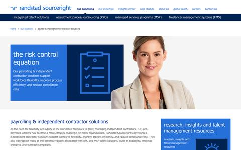 payroll & independent contractor solutions | Randstad Sourceright