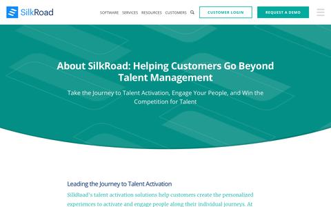 Screenshot of About Page silkroad.com - About Our Company | SilkRoad - captured July 7, 2017