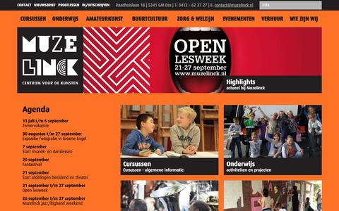 Screenshot of Home Page muzelinck.nl - Muzelinck - captured Sept. 4, 2015