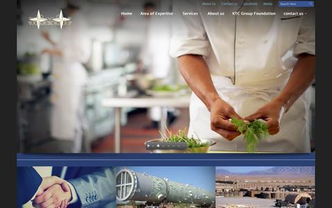 Screenshot of Home Page afktc.com - KTC   Group of Companies - captured Oct. 6, 2014