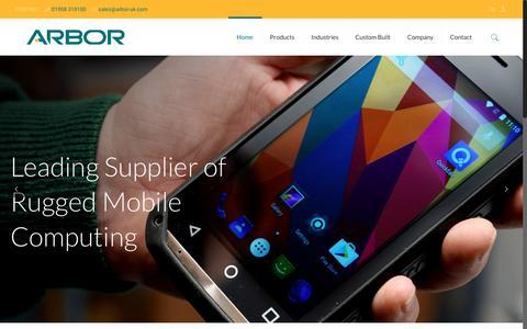 Screenshot of Home Page arbor-uk.com - ARBOR Technology UK - captured May 30, 2017
