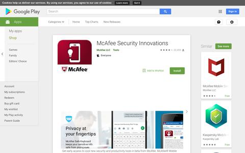 McAfee Security Innovations - Apps on Google Play