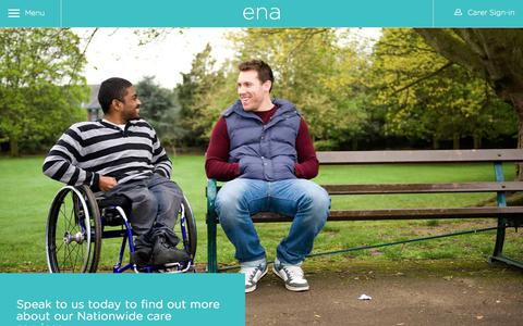 Screenshot of Contact Page ena.co.uk - Contact - ENA Care Group UK - Live in Care Groups and Support - captured Sept. 24, 2018