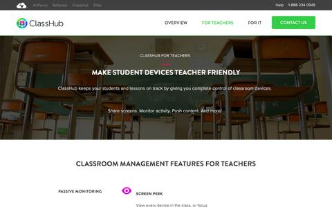 Screenshot of airsquirrels.com - ClassHub For Teachers | Make Student Devices Teacher Friendly - captured March 2, 2017
