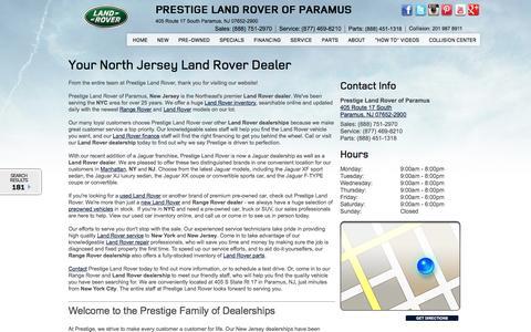 Screenshot of About Page prestigelandrover.com - Prestige Land Rover is the largest Land Rover and Range Rover dealer in North America - captured Sept. 23, 2014