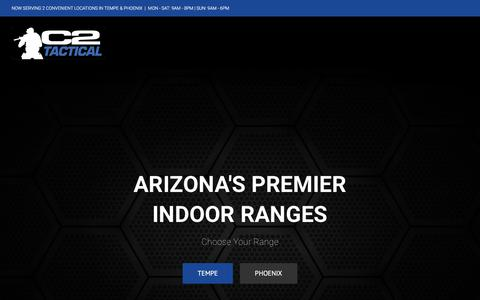 Screenshot of Home Page c2tactical.com - C2 Tactical Gun Range - Voted Best Indoor Range in Arizona - captured July 14, 2018