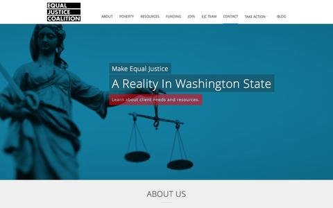 Screenshot of About Page Contact Page Signup Page ejc.org - Equal Justice Coalition   It's Not Justice If It's Not Equal - captured Oct. 2, 2014