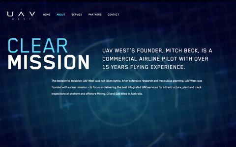 Screenshot of About Page uavwest.com.au - About • UAV West - captured Sept. 30, 2014