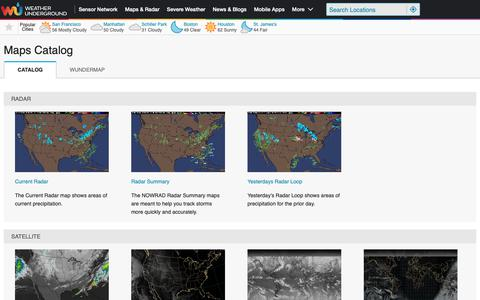 Screenshot of Maps & Directions Page wunderground.com - Weather Underground - captured Dec. 3, 2018