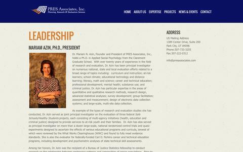 Screenshot of Team Page presassociates.com - Leadership - captured Dec. 6, 2015