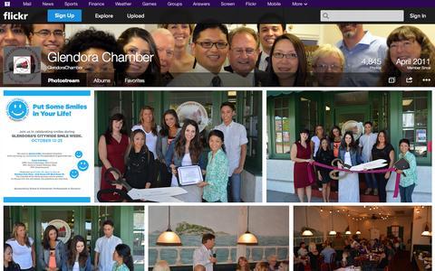 Screenshot of Flickr Page flickr.com - Flickr: GlendoraChamber's Photostream - captured Oct. 22, 2014