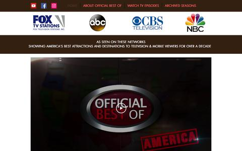 Screenshot of Home Page officialbestof.com - Home | Official Best Of Television Series - captured Sept. 20, 2018