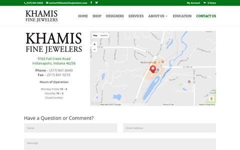 Screenshot of Contact Page khamisfinejewelers.com - Contact Us - Khamis Fine Jewelers - captured June 9, 2017