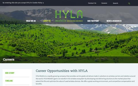 Screenshot of Jobs Page erecyclingcorps.com - Careers   HYLA Mobile - Mobile Reconsidered - captured Sept. 25, 2014