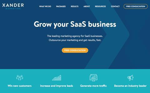 SaaS Marketing Services - Xander Marketing