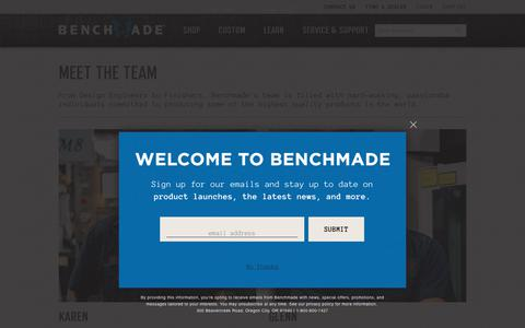 Screenshot of Team Page benchmade.com - Meet the team - captured July 12, 2018