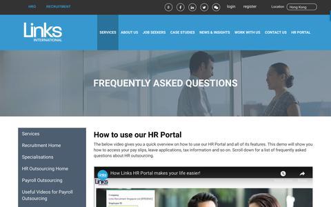 Screenshot of FAQ Page linksinternational.com - Payroll FAQ | Links International - captured July 20, 2018