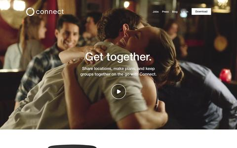 Screenshot of Home Page connect.com - Connect - captured Oct. 7, 2015