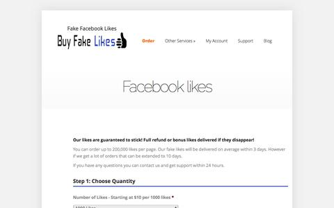 Facebook likes | Buy Fake Facebook Likes
