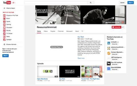 Screenshot of YouTube Page youtube.com - Resource/Ammirati  - YouTube - captured Oct. 29, 2014