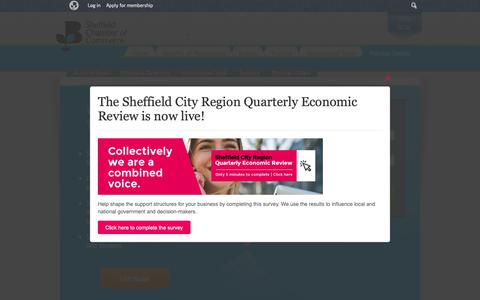 Screenshot of Login Page scci.org.uk - Member Centre, Buisiness Networking - Sheffield Chamber of Commerce - captured Nov. 9, 2018