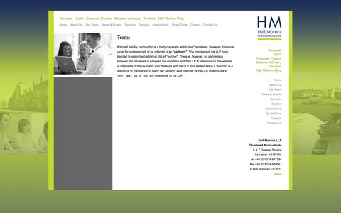 Screenshot of Terms Page hall-morrice.co.uk - Contact Us | Hall Morrice LLP Chartered Accountants - captured Oct. 1, 2014