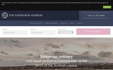Screenshot of Home Page theedinburghaddress.com - Luxury Apartments - The Edinburgh Address - captured Nov. 19, 2018