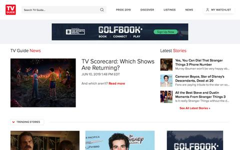 Screenshot of Press Page tvguide.com - Entertainment and Celebrity News, TV News and Breaking News   TV Guide - captured July 7, 2019