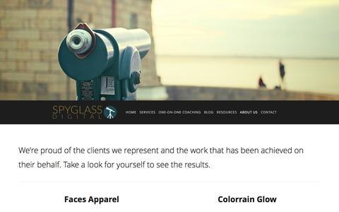 Screenshot of Case Studies Page spyglassdigital.com - Our Work Ń Spyglass Digital - captured Jan. 13, 2016