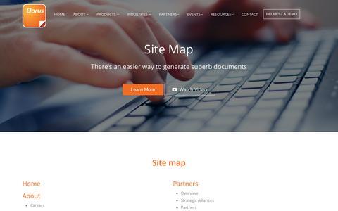 Screenshot of Site Map Page qorusdocs.com - Sitemap | Qorus Software - captured Dec. 3, 2015