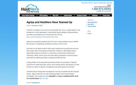 Screenshot of Blog hosthero.com - hosthero.com - captured Sept. 30, 2014