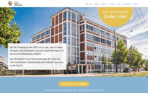 Screenshot of Jobs Page traum-ferienwohnungen.de - Jobs – Traum-Ferienwohnungen - captured May 28, 2018