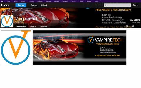 Screenshot of Flickr Page flickr.com - Flickr: VampireTech's Photostream - captured Oct. 26, 2014