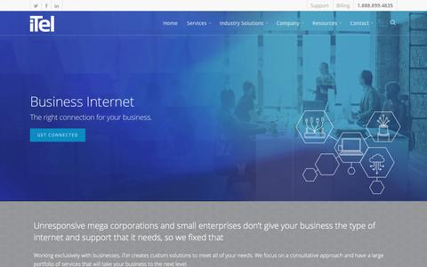 Screenshot of Services Page itel.com - Internet Service Provider for Businesses - iTel Networks - captured Oct. 16, 2017