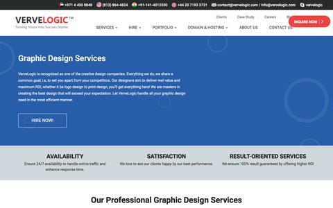 Screenshot of vervelogic.com - Best Graphic Design Services - Vervelogic - captured Jan. 16, 2018