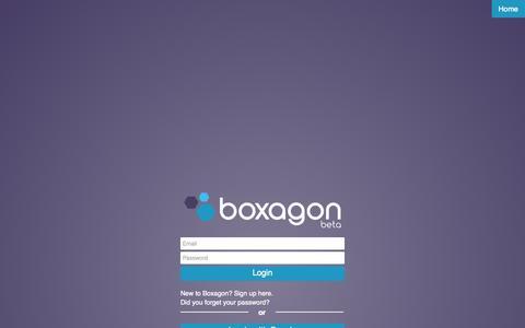 Screenshot of Login Page boxagon.com - Boxagon | Login - captured Sept. 19, 2014