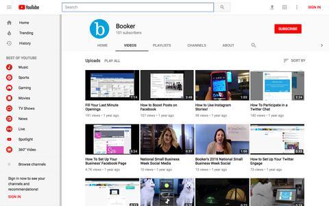 Booker - YouTube - YouTube