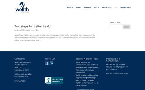 Screenshot of Blog wellthadministrators.com - Blog | Wellth Administrators - captured Nov. 18, 2016