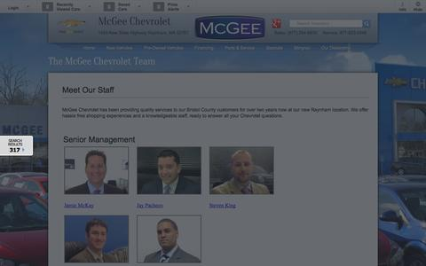 Screenshot of Team Page mcgeechevrolet.com - Meet Our Staff | McGee Chevrolet - captured Oct. 6, 2014
