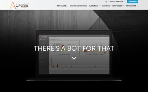 Screenshot of Trial Page automationanywhere.com - Start Free Trial - captured Nov. 29, 2018