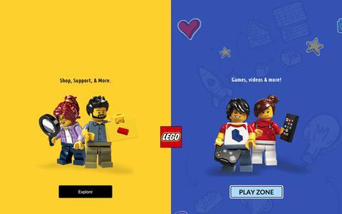 Screenshot of FAQ Page lego.com - Help Topics - service LEGO.com - captured Aug. 15, 2019