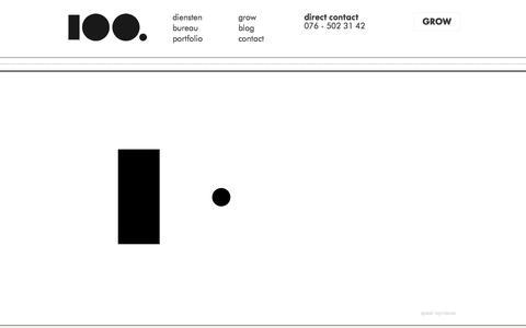 Screenshot of Home Page 100.nl - 100 webdesign, online marketing & grafisch ontwerp - captured Sept. 30, 2014