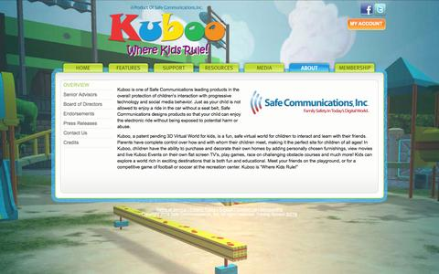 Screenshot of About Page kuboo.com - Kuboo - Where Kids Rule! - About - captured Sept. 16, 2014