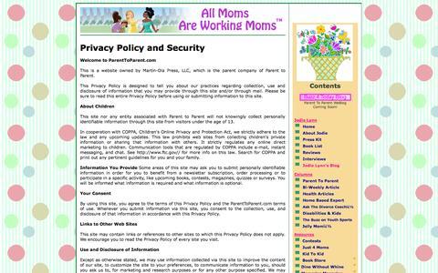 Screenshot of Privacy Page parenttoparent.com - Parent To Parent - Jodie Lynn - captured Sept. 27, 2014